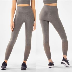 Fabletics Seamless High Waisted Mesh Legging - M